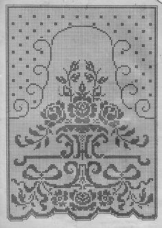 Crochet Art, Crochet Home, Thread Crochet, Crochet Stitches, Crochet Patterns, Crochet Curtains, Crochet Tablecloth, Crochet Doilies, Counted Cross Stitch Patterns