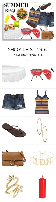 """""""Backyard 🍖BBQ 🍖"""" by aharcaki on Polyvore featuring Design Imports, Hollister Co., RVCA, Havaianas, Lydell NYC, Chloé, Luv Aj and Burberry"""
