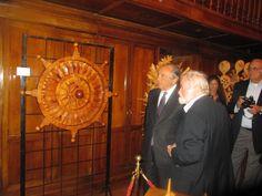 #FerdinandoCodognotto Carved Wooden Sun Wheel  www.FerdinandoCodognotto.com