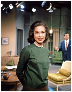 Sixties | Mary Tyler Moore; rare color photo from The Dick Van Dyke Show set