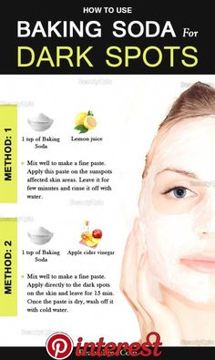 How To Remove Dark Spots With Baking Powder Naturally Plastische Chirurgie Skin Tips, Skin Care Tips, Beauty Care, Beauty Skin, Face Beauty, Beauty Style, Beauty Secrets, Beauty Hacks, Diy Beauty