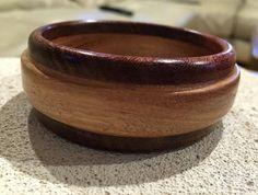 Handcrafted Australian Wood Bangle made from Jarrah and BlueGum Artist Signed. Bangles Making, Wood Grain, Artist, Artists