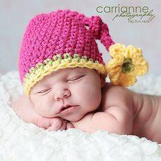 Mooie Pasgeboren Baby meisje Hoed, handgemaakte Haak Knit beanie Hoed in roze, roze hoed en Gele bloemen(China (Mainland)) Crochet Kids Hats, Baby Girl Crochet, Crochet Beanie, Crochet Crafts, Knit Crochet, Flower Crochet, Crocheted Hats, Free Crochet, Crochet Children