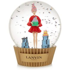 Lanvin Cupcake snow globe ($285) ❤ liked on Polyvore featuring home, home decor, holiday decorations, extra, white, white home decor, cupcake home decor, french home decor, lanvin and snow white snow globe