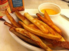 Homemade French fries. Oh, spankin'.