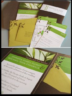 Wedding Invite Design // Nature Theme