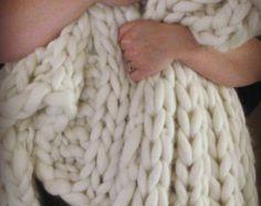 knit blanket – Etsy