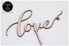 Wooden Love Cake Topper : Design @ 409