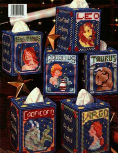 ZODIAC BOUTIQUES IN PLASTIC CANVAS by HOLLY DEFOUNT *BACK COVER*