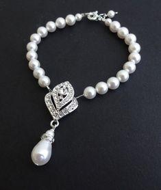Art-Deco Braut Armband Hochzeit Armband große Gatsy von luxedeluxe