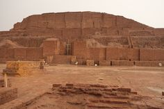 Chogha Zanbil, Ziggurat, 13th century BC. Elamite... - Chogha Zanbil ; Elamite: Dur Untash is an ancient Elamite complex in the Khuzestan province of Iran. Chogha in Bakhtiari means hill. It is one of the few existent ziggurats outside of Mesopotamia.   It was built about 1250 BC by the king Untash-Napirisha, mainly to honor the great god Inshushinak. Its original name was Dur Untash.