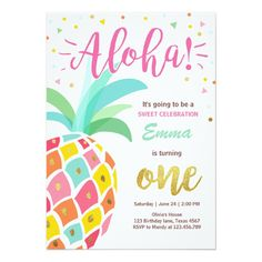 Tropical Party Invitation Luau Hawaiian Party Invitation Tutti