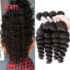 11.11 Big Sale Hair Brazilian Loose Wave 4 Bundles 7A Brazilian Virgin Hair Loose Wave Wet And Wavy Loose Curly Human Hair 100g