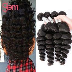 7A Brazilian Loose Wave Virgin Hair 4 Bundles Wet And Wavy Loose Curly Human Hair 100g