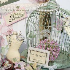 sage green birdcage www.bohemiandreams.co.uk