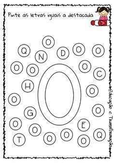 Blog Educação e Transformação: 👍 Alfabeto: pintando as letras Letter Worksheets For Preschool, Homeschool Preschool Curriculum, Alphabet Tracing Worksheets, Tracing Letters, Montessori Activities, Alphabet Activities, Preschool Activities, Planner 2018, Kids Schedule