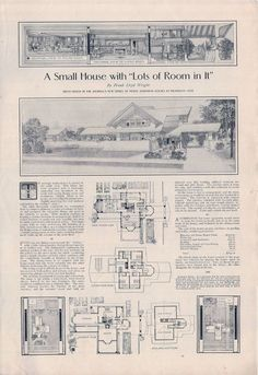 """FLW design in """"Ladies' Home Hournal""""(500×727)"""