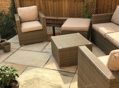 Mint Fossil Sandstone is a stunning Indian Stone Paving featuring beautiful natural fossil detaiing! Paving Slabs, Paving Stones, Sandstone Slabs, Patio Kits, Garden Paving, Outdoor Furniture Sets, Outdoor Decor, Patio Design, Traditional Design