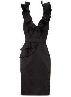 Bqueen Statement Folded Dress in Black, ustrendy.com