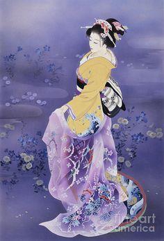 Skiyu Purple Robe Digital Art