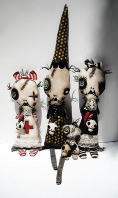 Junker Jane Art Dolls and Soft Sculptures Zombie Dolls, Voodoo Dolls, Ugly Dolls, Creepy Dolls, Halloween Doll, Halloween Crafts, Big Cartel Shops, Dammit Doll, Clay Art Projects