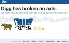 Digg's clever 404 error message.