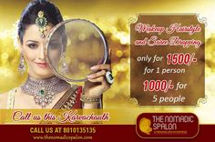 Get #Spa And #Salon At Home On This #Festive Season With Exciting Offers !! #Makeup #hairstyle and saree #drapping only for Rs 1500/- for 1 person. and 1000 for 5 people. To book an #appointment at your doorstep Just call @ 8010135135 on this #Karwachauth.  www.thenomadicspalon.com  #HappyKarwaChauth #TheNomadicSpalon