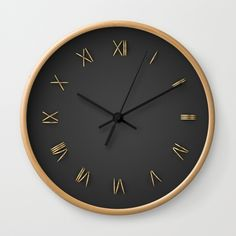 Buy Time is Gold Wall Clock by rzvn. Worldwide shipping available at Society6.com. Just one of millions of high quality products available.