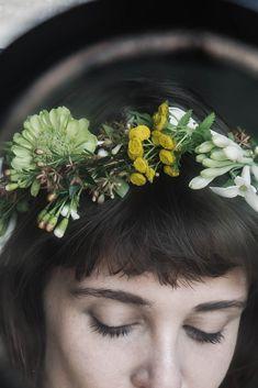 Local Milk | weaving a floral crown
