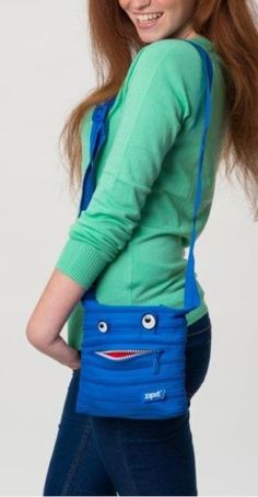 Shoulder Bag Mini Zipit® Monster Made from One Long Zipper -Royal Blue Royal Blue, Shoulder Bag, Zipper, Gift Ideas, Mini, Christmas, Bags, Shopping, Fashion