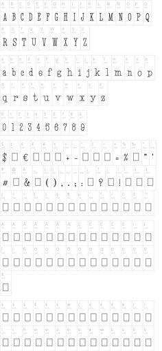 Hand TypeWriter #fonts