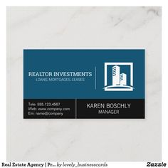 Real Estate Agency | Property Management Business Card