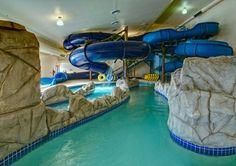 Indoor pool with slide                                                       …