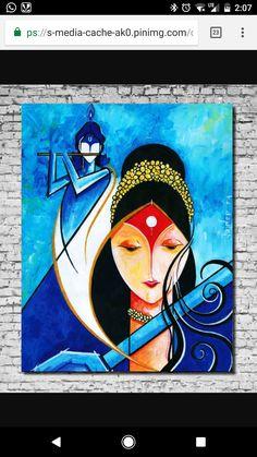 Canvas Art Projects, Diy Canvas Art, Madhubani Art, Madhubani Painting, Indian Art Paintings, Modern Art Paintings, Mandala Art Lesson, Oil Pastel Art, Indian Folk Art