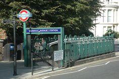entrance, Warwick Avenue Underground Station (station completed 1915), Warwick Avenue W9, Maida Vale, London.