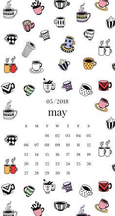 Coffee cup iPhone lock screen may calendar Emma's Studyblr Trendy Wallpaper, Cool Wallpaper, Wallpaper Backgrounds, Iphone Wallpapers, Diy Calendario, Calendar Wallpaper, Calendar 2018, Study Inspiration, Studyblr