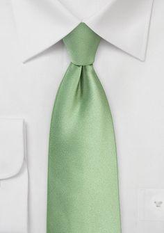 Herrenkrawatte unifarben olivgrün