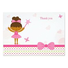 Shop Cute pink ballerina girl's birthday thank you card created by Jamene. Polka Dot Birthday, Butterfly Birthday, Ballerina Birthday Parties, Girl Birthday, Birthday Favors, Birthday Party Invitations, Birthday Thank You Cards, Twinkle Twinkle Little Star, Cute Pink