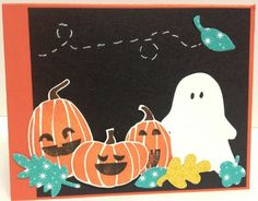 Handmade Halloween/Pumpkin card using the Fall Fest Photopolymer Bundle from Stampin' Up!