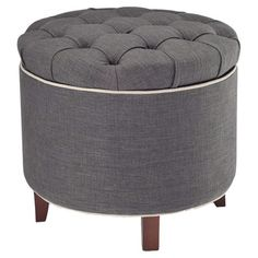 I pinned this Amelia Tufted Storage Ottoman from the sfa design event at Joss and Main!