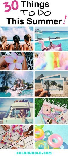 30 Things to do during Summer: Summer Bucket List