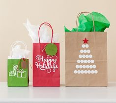 DIY Holiday gift bags. Make It Now in Cricut Design Space
