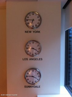 I like this idea for home decoration, especially if someone near & dear to you lives in a different timezone.  Then you can always see your time & their time.  Might even put notation underneath, ex. New York, Grandma...Los Angeles, Home...etc.
