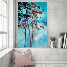 Tree Painting, Abstract Painting, Original Abstract Painting on Canvas, Professional Painting, Wall Art, 36x24 by Heather Day