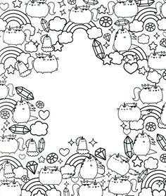 Pusheen Coloring Pages Cartoon Coloring Pages Libros Para