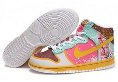 buy online 958fa 70ff8 Buy Women s Nike Dunk High Shoes Brown White Golden Pink Discount from  Reliable Women s Nike Dunk High Shoes Brown White Golden Pink Discount  suppliers.