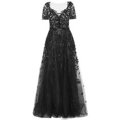 Want to make a grand enterance? Well this dress will transform you into a black goddess. Zuhair Murad Embellished Silk-Blend Gown