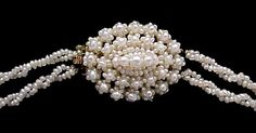 Clasp of VICTORIAN Seed Pearl Bridal Necklace, c. 1850