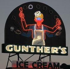 Gunther's ice cream Sacramento