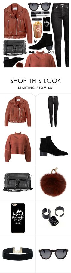 """Today's Inspiration"" by monmondefou ❤ liked on Polyvore featuring Acne Studios, WithChic, Barbara Bui, Yves Salomon, Christian Dior, Earth, Fall, casual, black and red"